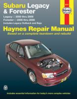 Subaru Legacy and Forester Automotive Repair Manual