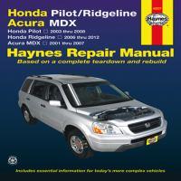 Honda Pilot & Ridgeline, Acura MDX Automotive Repair Manual
