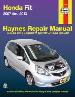 Honda Fit Automotive Repair Manual