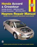 Honda Accord & Crosstour Automotive Repair Manual