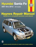 """Hyundai Santa Fe '01 Thru """"12"""