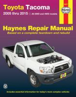 Toyota Tacoma Automotive Repair Manual