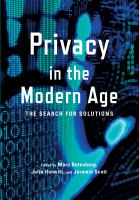 Privacy in the Modern Age