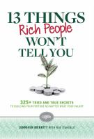 13 Things Rich People Won't Tell You