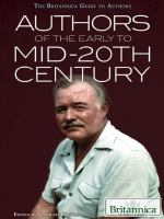 Authors of the Early to Mid-20th Century