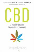 CBD : A Patient's Guide To Medicinal Cannabis