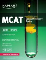 MCAT General Chemistry Review 2015
