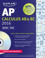 AP Calculus AB & BC 2016