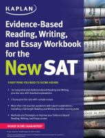Evidence-based Reading, Writing, and Essay Workbook for the New SAT