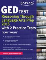 GED Test Reasoning Through Language Arts Prep 2015