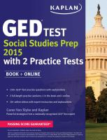 GED  Test Social Studies Prep 2015