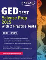 GED  Test Science Prep 2015