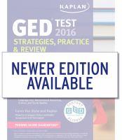 GED Test 2016