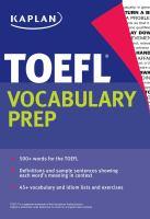 TOEFL Vocabulary Prep