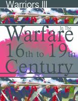 Warfare in the 16th to 19th Century