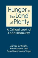 Hunger in the Land of Plenty