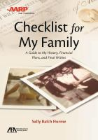 Checklist for My Family
