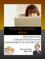 Focusing on your Work