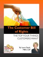 The Customer Bill of Rights