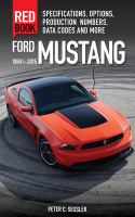 Ford Mustang Red Book, 1964 1/2-2015