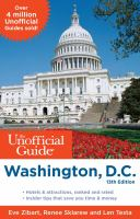 The Unofficial Guide to Washington, D.C., 2014