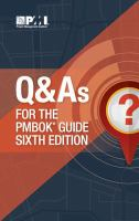 Q and As for the PMBOK® Guide Sixth Edition
