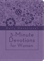 3-Minute Devotions for Women: Daily Devotional (purple)