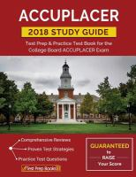ACCUPLACER 2018 Study Guide