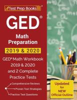 GED Math Preparation 2019 & 2020
