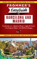 Frommer's EasyGuide to Barcelona & Madrid