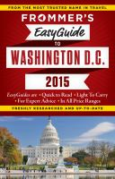 Frommer's Easyguide to Washington D.c. 2015