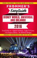 Frommer's EasyGuide to Walt Disney World, Universal Studios & Orlando