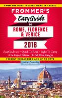 Frommer's Easyguide to Rome, Florence & Venice