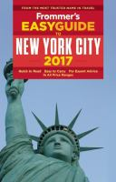 Frommer's Easyguide to New York City, 2017