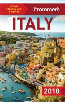 Frommer's Italy, 2018