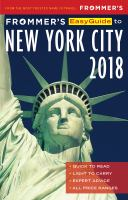 Frommer's Easyguide to New York City, 2018