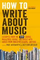 How to Write About Music