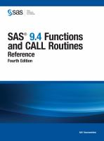 SAS 9.4 Functions and CALL Routines