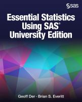 Essential Statistics Using SAS
