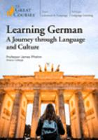 Learning German: A Journey Through Language and Culture (DVD)