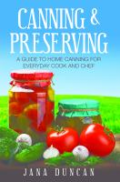 Canning and Preserving