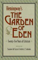 Hemingway's The Garden of Eden