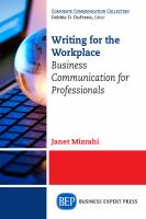 Writing for the Workplace
