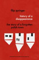 History of A Disappearance