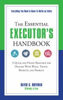 The Essential Executor's Handbook
