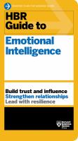 HBR Guide to Emotional Intelligence