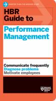HBR Guide to Performance Management (HBR Guide To)