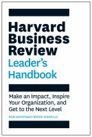 Harvard Business Review Leader's Handbook