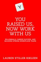 You Raised Us, Now Work With Us