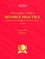 The Complete Guide to Divorce Practice